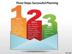 Business Diagram Three Steps Successful Planning Business Cycle Diagram