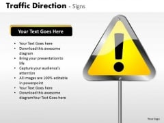 Business Diagram Traffic Direction Signs Mba Models And Frameworks