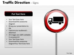Business Diagram Traffic Direction Signs Sales Diagram