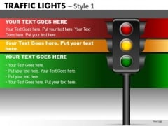 Business Diagram Traffic Lights Strategic Management