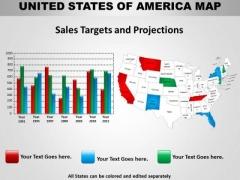 Business Diagram Usa Country Maps Strategic Management