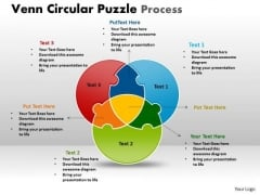 Business Diagram Venn Circular Puzzle Process Marketing Diagram