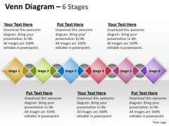 Business Diagram Venn Colorful Diagram 6 Stages Sales Diagram