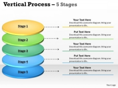 Business Diagram Vertical Process 5 Stages Diagram Consulting Diagram