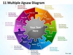 Business Finance Strategy Development 11 Multiple Jigsaw Diagram Business Diagram