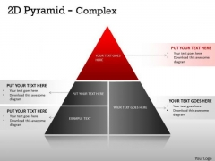 Business Finance Strategy Development 2d Pyramid Complex Design With 4 Stages Consulting Diagram