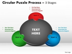Business Finance Strategy Development 3 Stages Circular Marketing Diagram