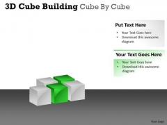 Business Finance Strategy Development 3d Cube Building Cube By Cube Strategy Diagram