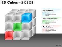 Business Finance Strategy Development 3d Cubes 2x3x3 Strategy Diagram