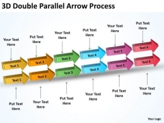 Business Finance Strategy Development 3d Double Parallel Arrow Process Consulting Diagram