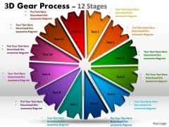 Business Finance Strategy Development 3d Gear Process 12 Stages Marketing Diagram