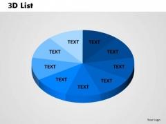 Business Finance Strategy Development 3d List Pie Circular 1 Consulting Diagram