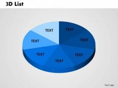 Business Finance Strategy Development 3d List Sales Diagram