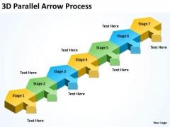 Business Finance Strategy Development 3d Parallel Arrow Process Business Cycle Diagram