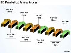 Business Finance Strategy Development 3d Parallel Up Arrow Process Sales Diagram