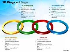 Business Finance Strategy Development 3d Rings 4 Stages Marketing Diagram