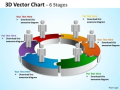 Business Finance Strategy Development 3d Vector Chart 6 Stages Sales Diagram