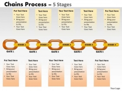 Business Finance Strategy Development 5 Stages Chain Process Business Diagram
