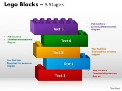 Business Finance Strategy Development 5 Stages Lego Blocks Sales Diagram