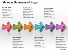 Business Finance Strategy Development Arrow Process 6 Stages Business Diagram