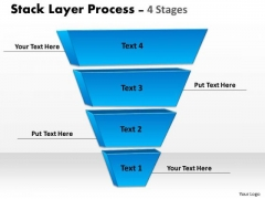 Business Finance Strategy Development Blue Color Stack Layer Sales Diagram