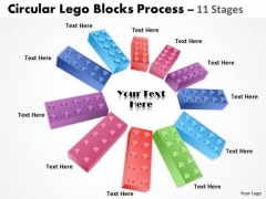 Business Finance Strategy Development Building Lego Process 11 Stages Marketing Diagram