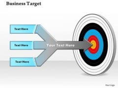 Business Finance Strategy Development Business Goals And Targets Sales Diagram