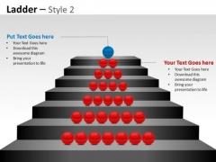Business Finance Strategy Development Business Ladder Diagram For Success Sales Diagram