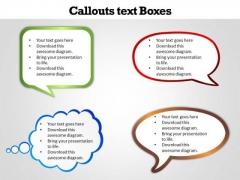 Business Finance Strategy Development Callouts Text Boxes Sales Diagram