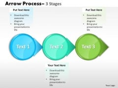 Business Finance Strategy Development Circle Arrow 3 Stages Consulting Diagram
