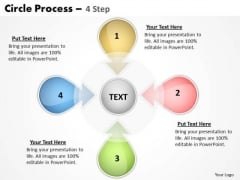 Business Finance Strategy Development Circle Process 4 Step Strategy Diagram