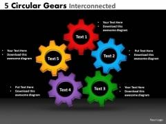 Business Finance Strategy Development Circular Gears Business Diagram