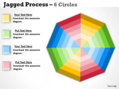 Business Finance Strategy Development Concentric Process 6 Stages Sales Diagram