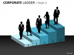 Business Finance Strategy Development Corporate Ladder Style Sales Diagram