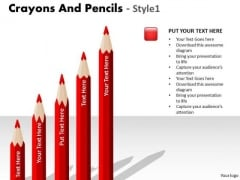 Business Finance Strategy Development Crayons And Pencils Style 1 Sales Diagram