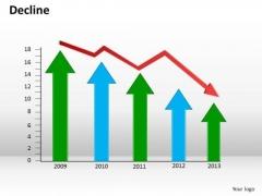 Business Finance Strategy Development Decline Arrows Strategy Diagram