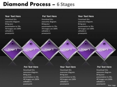 Business Finance Strategy Development Diamond Process 6 Stages Strategy Diagram