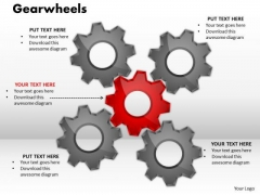 Business Finance Strategy Development Gearwheels Marketing Diagram