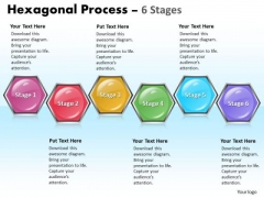 Business Finance Strategy Development Hexagonal Process 6 Stages Strategy Diagram