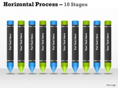 Business Finance Strategy Development Horizontal Process 10 Stages Marketing Diagram