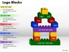 Business Finance Strategy Development Lego Block Sales Diagram