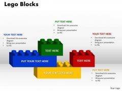 Business Finance Strategy Development Lego Blocks 4 Sales Diagram