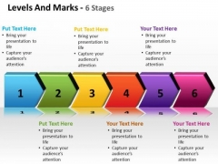 Business Finance Strategy Development Levels And Marks 6 Stages Strategy Diagram
