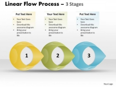 Business Finance Strategy Development Linear Flow Process 3 Stages Consulting Diagram