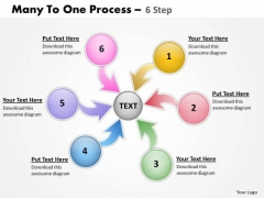 Business Finance Strategy Development Many To One Process 6 Step 13 Sales Diagram