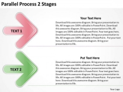 Business Finance Strategy Development Parallel Process 2 Stages Business Diagram