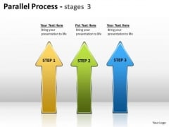 Business Finance Strategy Development Parallel Process Stages Sales Diagram