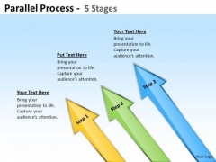 Business Finance Strategy Development Parallel Process Step Sales Diagram
