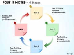 Business Finance Strategy Development Post It Notes 4 Strategy Diagram