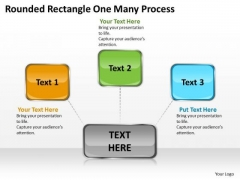 Business Finance Strategy Development Rounded Rectangle One Many Process Business Diagram